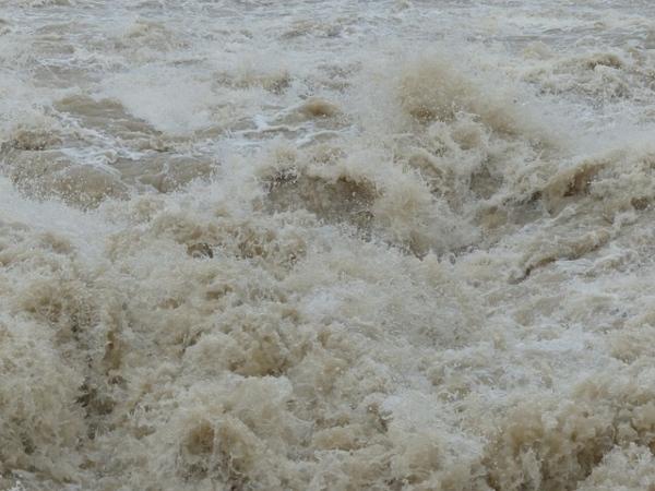 brown flood water