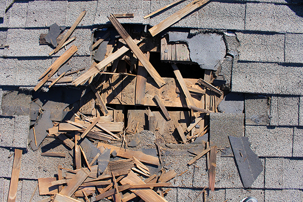 removal of old roofing shingles