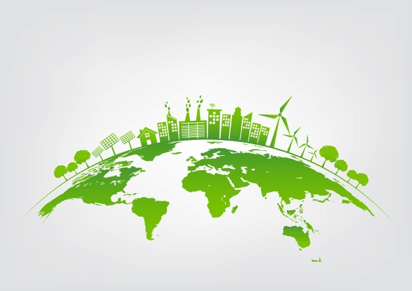 picture of a green planet
