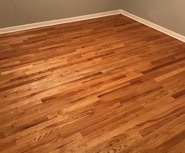 Red oak hard wood floor.