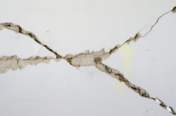 cracks on the foundation